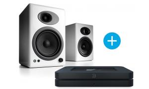 Bluesound NODE 2  et Audioengine A5+ blanc