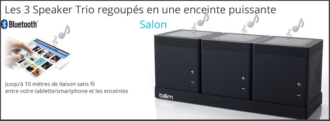 diffusez vos musiques en m me temps sur trois enceintes bluetooth. Black Bedroom Furniture Sets. Home Design Ideas