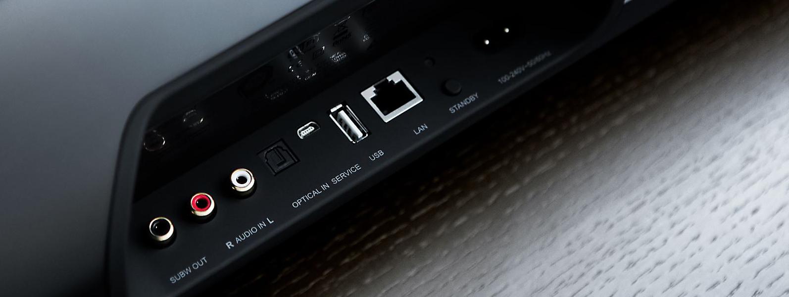 barre de son tv 120 watts et enceinte sans fil wifi bluetooth et audio hd. Black Bedroom Furniture Sets. Home Design Ideas