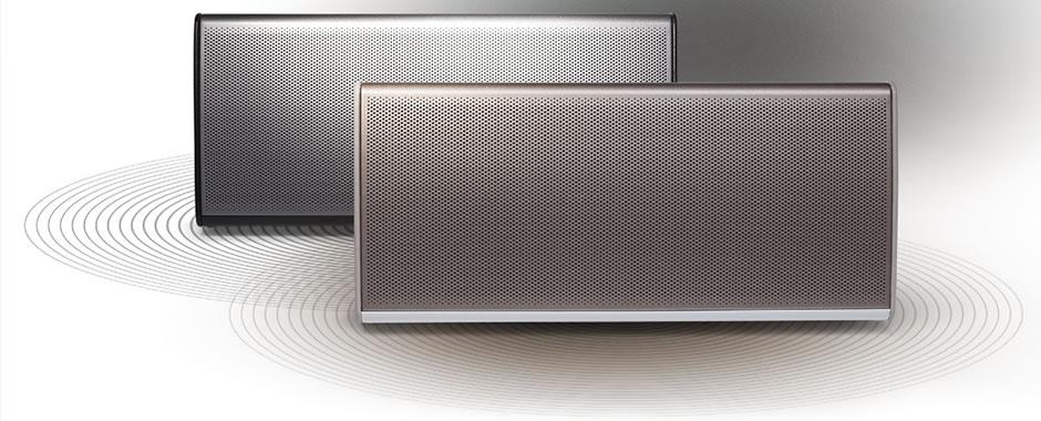 enceinte sans fil bluetooth aptx nfc avec batterie int gr e. Black Bedroom Furniture Sets. Home Design Ideas