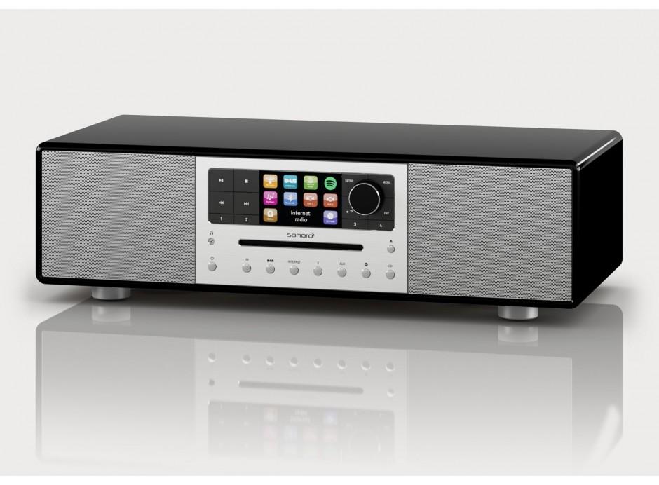Sonoro MEISTERSTÜCK Noir - Chaîne HiFi triple tuner radio Internet/DAB/FM avec lecteur CD et réception Bluetooth