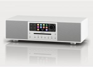 Sonoro MEISTERSTÜCK Blanc - Chaîne HiFi triple tuner radio Internet/DAB/FM avec lecteur CD et réception Bluetooth