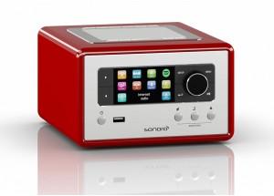 Sonoro RELAX Rouge - Poste de Radio Internet, FM et RNT/DAB avec réceptions Bluetooth et WiFi