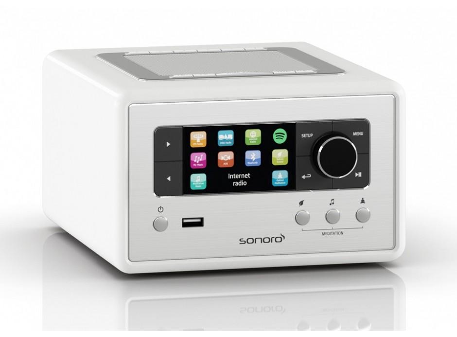 Promotion poste de radio Sonoro relax stéréo WiFi, DAB, DAB+ et FM compatible Spotify+ programme de relaxation