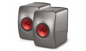 KEF LS50 Wireless Gris Titane & Bordeaux