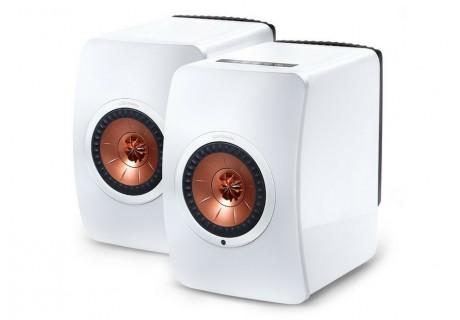 KEF LS50 Wireless Blanc Brillant & Cuivre