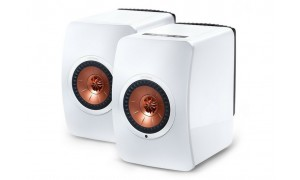 KEF LS50 Wireless Blanc Brillant & Cuivre