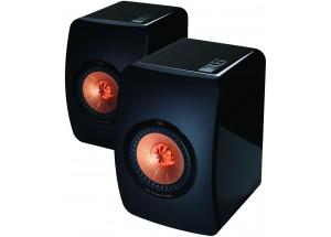 KEF LS50 Noir laqué - Enceintes HiFi compactes au format bibliothèque