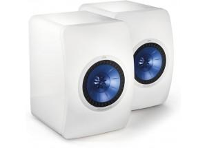 KEF LS50 Blanc laqué - Enceintes HiFi au format bibliothèque
