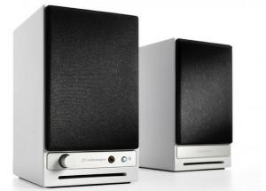 Audioengine HD3 Blanc - Enceintes actives Bluetooth et DAC intégré - cache haut-parleur amovible