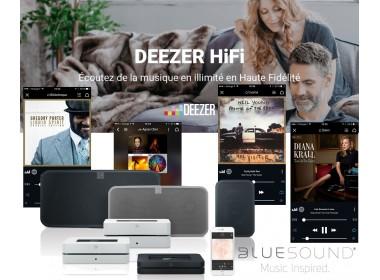 Abonnement Deezer HiFi pour Bluesound