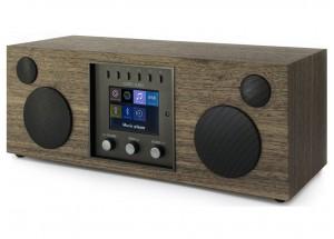 Como Audio Duetto Noyer - Poste de radio triple tuner Internet / DAB / FM avec réception Bluetooth