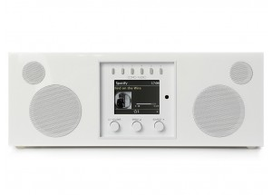 Como Audio Duetto Laqué Blanc - Poste de radio triple tuner Internet / DAB / FM avec réception Bluetooth