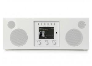 Como Audio Duetto Laqué Blanc - Poste de radio triple tuner Internet / DAB / FM avec réception Bluetooth