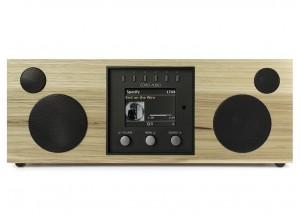 Como Audio Duetto Noyer Clair - Poste de radio triple tuner Internet / DAB / FM avec réception Bluetooth