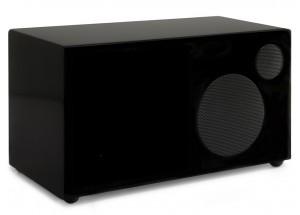Como Audio Ambiente Laqué Noir - Enceinte additionnelle filaire pour le poste de radio Como Audio Solo