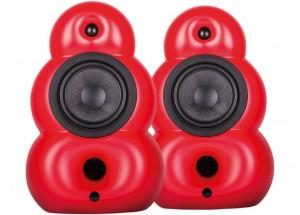 Podspeakers BigPod MK3 Rouge - Enceintes HiFi design format bibliothèque 150 W