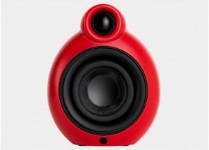Podspeakers Micropod Bluetooth MK2 Rouge - Enceinte amplifiée avec batterie intégrée et réception Bluetooth