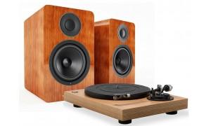 Platine vinyle RT100 et enceintes actives Acoustic Energy Bois