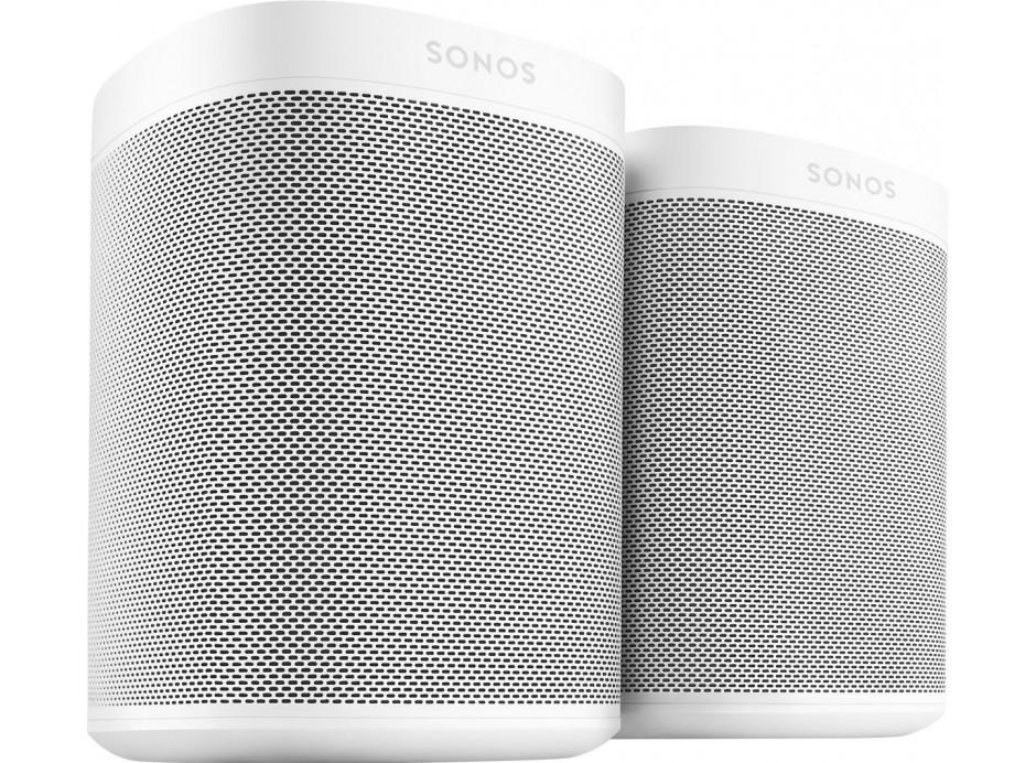 Sonos ONE Duo Stéréo : enceintes sans fil WiFi multiroom compactes à commande vocale