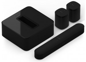 Sonos 5.1 : home cinéma compact avec barre de son, caisson de basses et enceintes surround Noir
