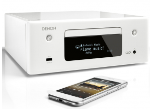 Denon Ceol RCD-N10 Blanc- Ampli connecté Wifi Bluetooth Airplay2 Multiroom Heos Amazon Alexa