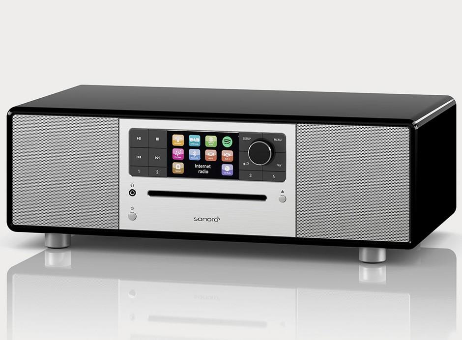 Sonoro PRESTIGE - Entrées USB, mini-jack, RCA, optique et sorties casque et RCA