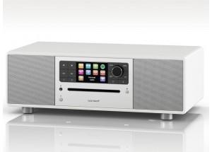 Sonoro PRESTIGE Blanc - Mini-chaîne HiFi triple tuner radio Internet/DAB/FM avec lecteur CD et réception Bluetooth