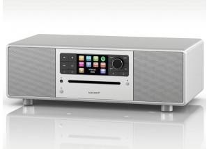 Sonoro PRESTIGE Argent  - Mini-chaîne HiFi triple tuner radio Internet/DAB/FM avec lecteur CD et réception Bluetooth