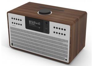 Revo SuperCD Noyer / Aluminum - Poste de radio Internet, DAB, FM avec lecteur CD et réception Bluetooth