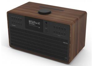 Revo SuperCD Noyer / Noir - Poste de radio Internet, DAB, FM avec lecteur CD et réception Bluetooth