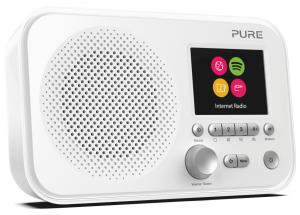 Pure Elan IR3 Blanc - Poste de radio compact nomade sur piles avec tuner Internet