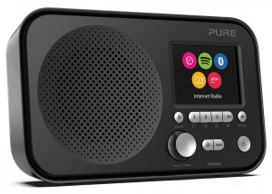 Pure Elan IR5 Noir - Poste de radio compact nomade sur piles avec tuner Internet et réception sans fil Bluetooth