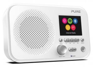 Pure Elan IR5 Bluetooth Blanc - Poste de radio compact nomade sur piles avec tuner Internet et réception sans fil Bluetooth