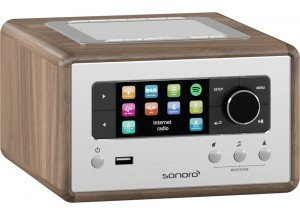Sonoro Relax Noyer - Poste de Radio Internet, FM et RNT/DAB avec réceptions Bluetooth et WiFi