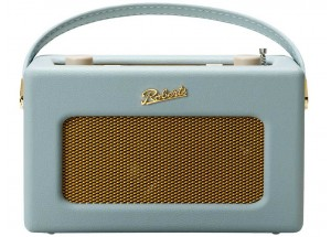 Roberts Revival iStream 3 Bleu Pastel - triple tuner radio Internet, DAB+, FM. Connexion WiFi et Bluetooth. Compatible Deezer, S