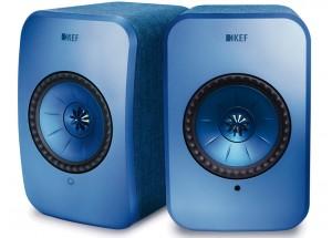 KEF LSX Wireless Bleu - Enceintes amplifiées avec lecteur réseau intégré WiFi, UPnP / DLNA, AirPlay 2 et Bluetooth