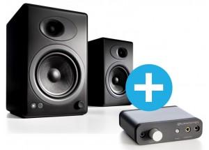 Enceintes amplifiées Audioengine A5 + - Coloris noir