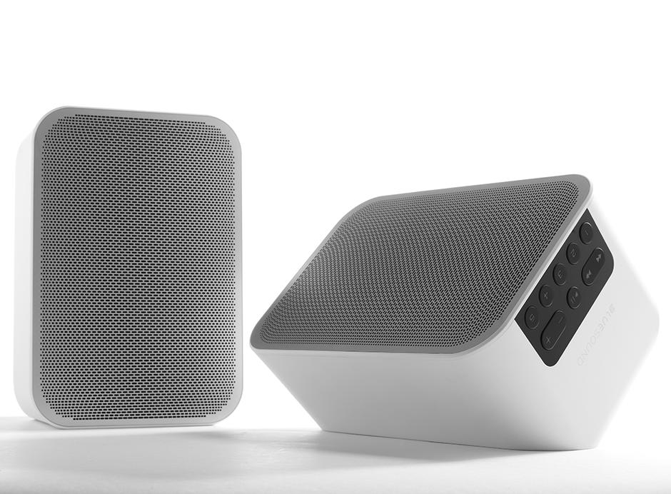 Bluesound FLEX 2i Duo Stéréo : enceintes puissantes avec DAC HD et entrées optiques / jack, réception Bluetooth