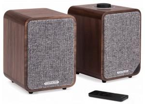 RUARK AUDIO MR1 MK2 Bois - Paire d'enceintes amplifiées avec réception sans fil Bluetooth qualité CD