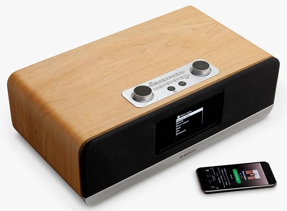 Roberts Stream 67 : Mini-chaîne HiFi triple tuner avec lecteur CD, WiFi, Bluetooth, USB et Deezer, Tidal, Spotifu, Amazon Music