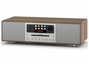 Sonoro MEISTERSTÜCK Noyer - Chaîne HiFi triple tuner radio Internet/DAB/FM avec lecteur CD et réception Bluetooth
