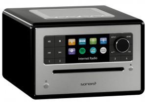 Sonoro ELITE  Noir - Poste de radio Internet, FM et RNT/DAB avec réception Bluetooth et Wifi