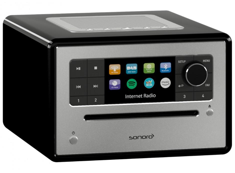 Promotion poste de radio Sonoro Elite lecteur CD WiFi, DAB, DAB+ et FM compatible Spotify Deezer Tidal