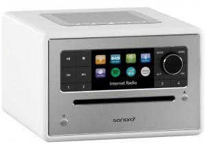 Sonoro ELITE  Blanc - Poste de radio Internet, FM et RNT/DAB avec réception Bluetooth et Wifi
