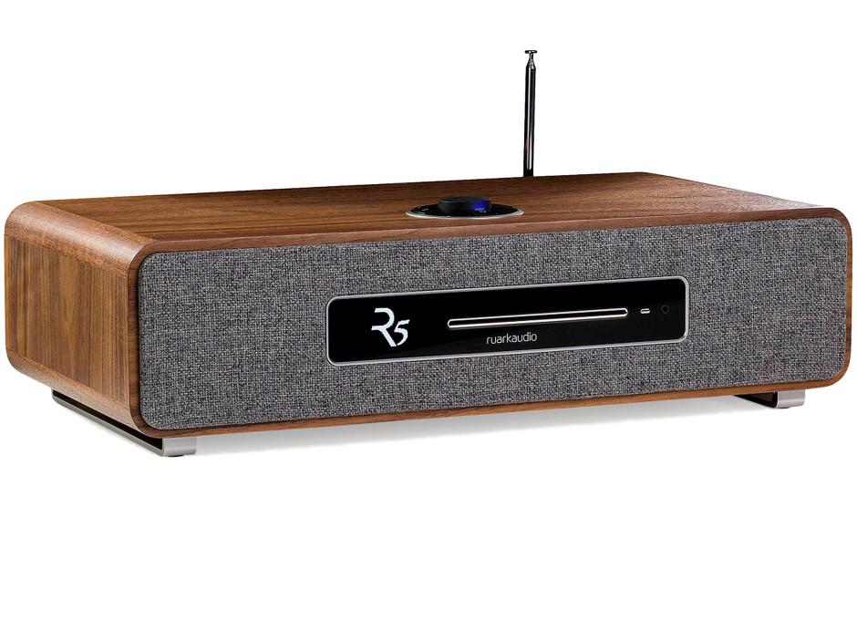 Ruark Audio R5 - Chaîne HiFi triple tuner radio Internet/DAB/FM avec lecteur CD et réception Bluetooth