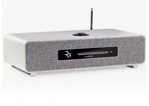 Ruark Audio R5 Soft Grey - Chaîne HiFi triple tuner radio Internet/DAB/FM avec lecteur CD et réception Bluetooth