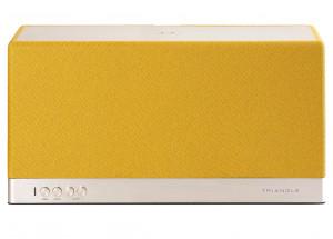 Triangle AIO 3 Jaune moutarde - enceinte connectée WIFi et Bluetooth compatible Deezer, Qobuz, Tidal et Spotify