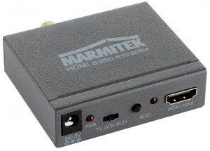 Marmitek Connect AE14 - Convertisseur HDMI | Extracteur audio 4K | ARC