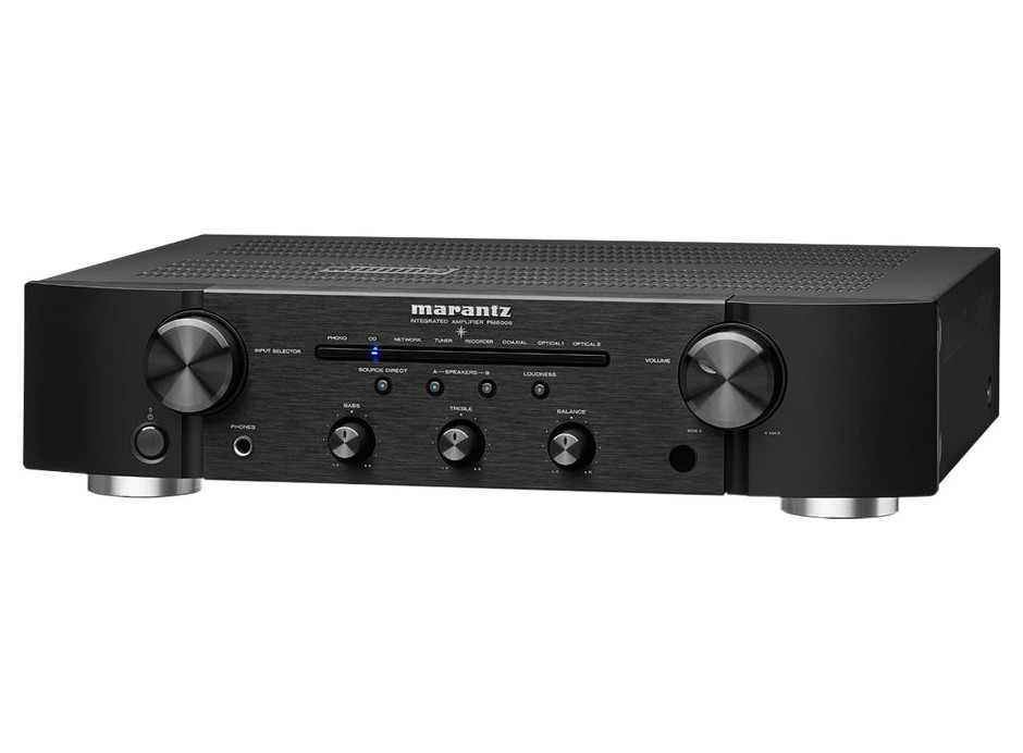 Marantz PM6006 Noir : Amplificateur HiFi 2 x 45 Watts - DAC 24 bits / 192 kHz - Phono